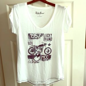 Lucky Brand | White Graphic Tee